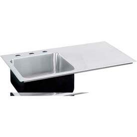 Just Mfg Sink Insert, Drop In, Single Bowl, Single Drainboard Right-18 Ga., SI2243AR1