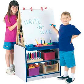 Jonti-Craft® Rainbow Accents® 2 Station Easel - Gray Top/Red Edge