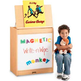 Jonti-Craft® MapleWave™ Big Book Easel - Magnetic Write-n-Wipe