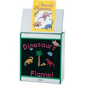 Jonti-Craft® Rainbow Accents® Big Book Easel - Flannel - Gray Top/Yellow Edge