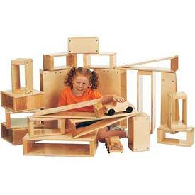Jonti-Craft® Hollow Blocks, Introductory Set - 12 Pieces, 5 Shapes