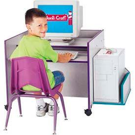 Jonti-Craft® Rainbow Accents® KYDZ CPU Booth - Gray Top/Teal Edge
