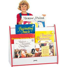 Jonti-Craft® Rainbow Accents Big Book Mobile Pick-a-Book Stand - 1 Sided - Gray Top/Navy Edge
