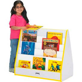 Jonti-Craft® Rainbow Accents® Pick-a-Book Stand - 1 Sided - Gray Top/Yellow Edge