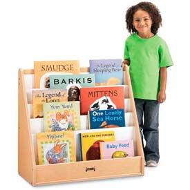 Jonti-Craft® MapleWave™ Flushback Pick-a-Book Stand - 1 Sided