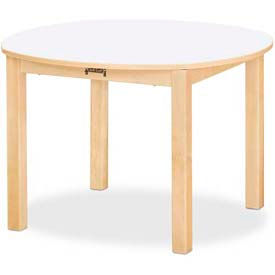 "Jonti-Craft® Multi-Purpose Round Table - 10"" High - White"