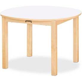 "Jonti-Craft® Multi-Purpose Round Table - 22"" High - White"