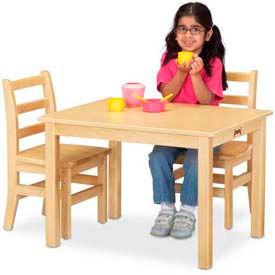 "Jonti-Craft® Multi-Purpose Rectangle Table - 18"" High - Maple"