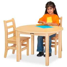 "Jonti-Craft® Multi-Purpose Round Table - 14"" High - Maple"
