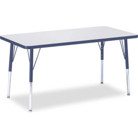 "Berries® Rectangle Activity Table, 48""W x 24""L x 24-31""H, Prism Navy"