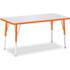 "Berries® Rectangle Activity Table, 48""W x 24""L x 24-31""H, Prism Orange"