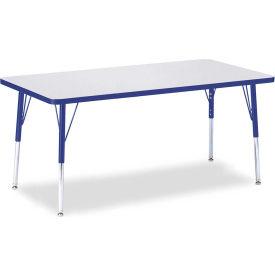 "Berries® Rectangle Activity Table, 30""W x 60""L x 24-31""H, Prism Blue"