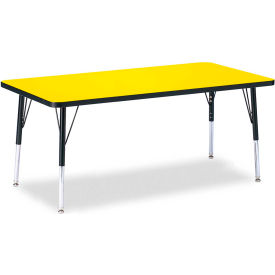 "Berries® Rectangle Activity Table, 30""W x 60""L x 15"" To 24""H, Classic Yellow"