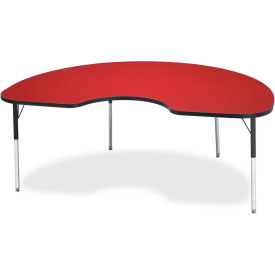 """Berries® Kidney Activity Table, 48""""W x 72""""L x 24-31""""H, Classic Red"""