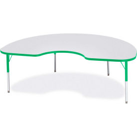 """Berries® Kidney Activity Table, 48""""W x 72""""L x 15"""" To 24""""H, Prism Green"""