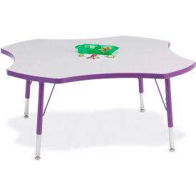 "Berries® Four Leaf Activity Table, 48""W x 48""L x 11"" To 15""H, Prism Purple"