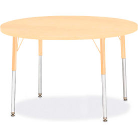 "Berries® Round Activity Table, 42""W x 42""L x 24-31""H, Prism Maple"