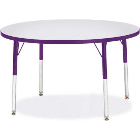 "Berries® Round Activity Table, 42""W x 42""L x 15"" To 24""H, Prism Purple"