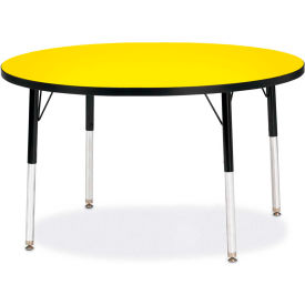 "Berries® Round Activity Table, 42""W x 42""L x 15"" To 24""H, Classic Yellow"