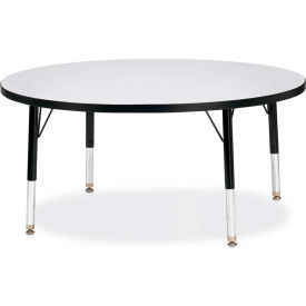 """Berries® Round Activity Table, 42""""W x 42""""L x 11"""" To 15""""H, Classic Gray"""