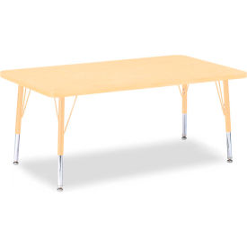 """Berries® Rectangle Activity Table, 30""""W x 48""""L x 11"""" To 15""""H, Prism Maple"""