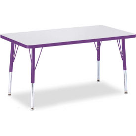 """Berries® Rectangle Activity Table, 24""""W x 36""""L x 15"""" To 24""""H, Prism Purple"""