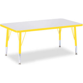 "Berries® Rectangle Activity Table, 24""W x 36""L x 11"" To 15""H, Prism Yellow"