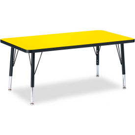 "Berries® Rectangle Activity Table, 24""W x 36""L x 11"" To 15""H, Classic Yellow"