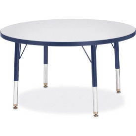 """Berries® Round Activity Table, 36""""W x 36""""L x 11"""" To 15""""H, Prism Navy"""
