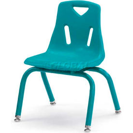 """Jonti-Craft® Berries® Plastic Chair with Powder Coated Legs - 12"""" Ht - Set of 6 - Teal"""