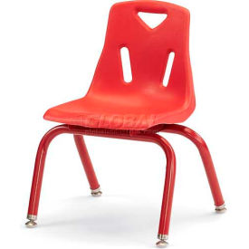 "Jonti-Craft® Berries® Plastic Chair with Powder Coated Legs - 14"" Ht - Red"
