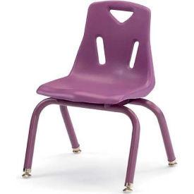 "Jonti-Craft® Berries® Plastic Chair with Powder Coated Legs - 14"" Ht - Set of 6 - Purple"