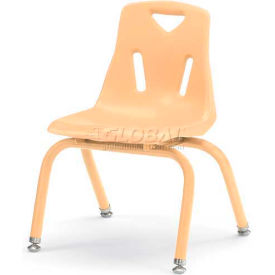 """Jonti-Craft® Berries® Plastic Chair with Powder Coated Legs - 14"""" Ht - Set of 6 - Camel"""