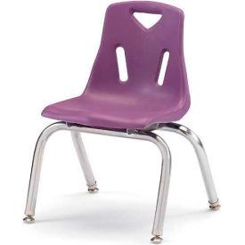 "Jonti-Craft® Berries® Plastic Chair with Chrome-Plated Legs - 10"" Ht - Purple"