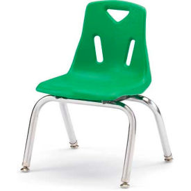 "Jonti-Craft® Berries® Plastic Chair with Chrome-Plated Legs - 10"" Ht - Green"