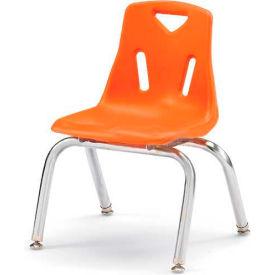 "Jonti-Craft® Berries® Plastic Chair with Chrome-Plated Legs - 12"" Ht - Set of 6 - Orange"
