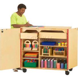 "Jonti-Craft 9511JC Mobile Supply Cabinet 45""W x 24""D x 46""H, Brich, Assembled"