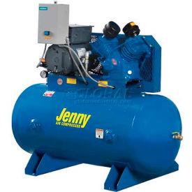Jenny® Horizontal Stationary Compressor G5A-60-230V, 1PH, 5HP, 125 PSI, 60 Gal