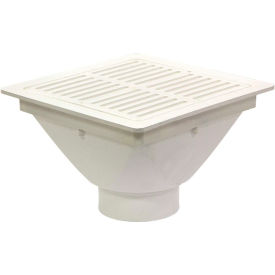 "Josam FS-943 PVC Floor Sink w/Full Grate, Dome Strainer & 3"" Solvent Weld Outlet for SCH 40 PVC Pipe"