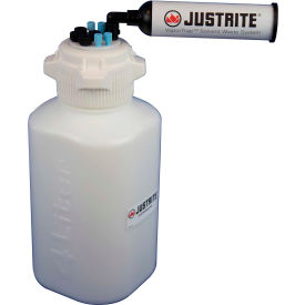 Justrite 12815 VaporTrap™ Carboy With Filter Kit, HDPE, 13.5-Liter, 8 Ports