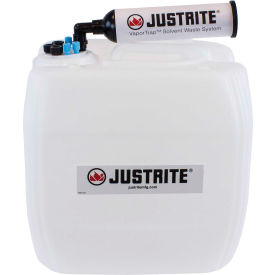 Justrite 12842 VaporTrap UN/DOT Carboy With Filter Kit, HDPE, 13.5-Liter, 7 Ports by