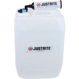 Justrite 12843 VaporTrap™ UN/DOT Carboy With Filter Kit, HDPE, 20-Liter, 7 Ports
