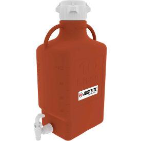 Justrite 12925 Carboy With Spigot, HDPE, 10-Liter