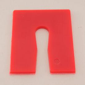 "Precision Brand&#174 06145 1/8"" X 2"" X 2-1/2"" Plastic Key Horseshoe Shim #88 1008PC"