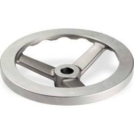 """JW Winco - 10MDF1/A - Stainless Steel 3 Spoked Handwheel w/o Handle - 3.94"""" Dia x 10mm Bore"""