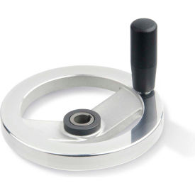 "JW Winco - 12KE73/DZI - Safety Clutch Handwheel - Frict Bearing w/ Handle 4.92""D-12mm Bore & Keyway"