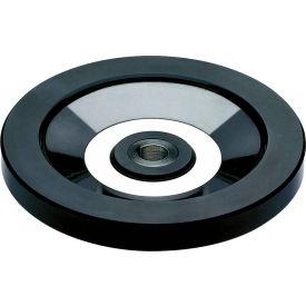"JW Winco - 520.6-100-K10-A - Solid Disk Handwheel w/o Handle-Stainless Hub-3.94"" D-10mm Bore-Keyway"