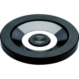 """JW Winco - 520.6-250-B24-A - Solid Disk Handwheel w/o Handle - Stainless Hub - 9.84"""" D - 24mm Bore"""