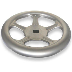 """JW Winco - 8VL85/A - Stainless Spoked Handwheel w/o Handle - 15.75"""" Dia x 1.00"""" Square Bore"""