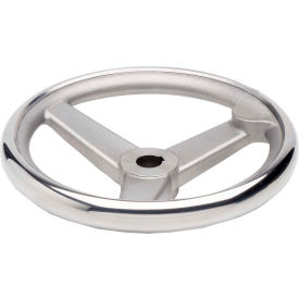 "JW Winco - 950.6-200-K3/4-A - SS Spoked Handwheel w/o Handle - 7.87"" D x .750"" Bore & Keyway"